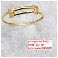 Gelang baby emas kuning 1.01 gram