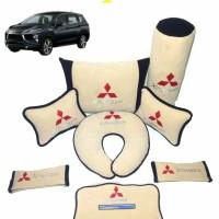 promo Mitsubishi Xpander Bantal aksesoris mobil Custom Cream Hitam