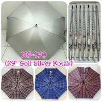 Payung Golf Silver dalam motif Kotak-kotak