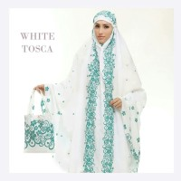 Mukena Tazkia Viscose Magnolia Series White Tosca