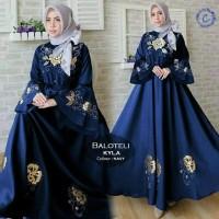 TERBARU maxi balotelly kyla navi fashion wanita baju muslim gamis