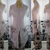 baju batik Kebaya jadi pengantin akad nikah putih Jumbo bordir brokat
