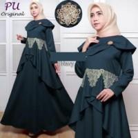 4881 gamis muslimah remaja baju lebaran terbaru grosir murah navy cute