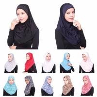 Women Full Cover Inner Hijab Cap 12 Colors Muslim Hijab