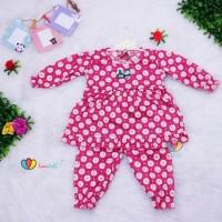 Piyama Cherry Baby 0-6 bulan / Baju Bayi Perempuan Girl Tidur Lengan