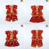 Baju Sanghai uk bayi - 4 th / Baju Imlek Balita - Couple Anak Laki