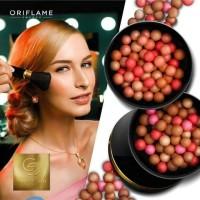 Giordani Gold Bronzing Pearls + kuas / blush on Oriflame