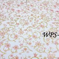 WPS252 WHITE N PINK GOLD MOTIF WALLPAPER STICKER  WAL PAPER DINDING