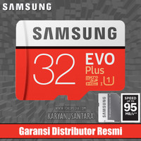 32GB SAMSUNG MICROSD EVO PLUS 95MB/S MEMORY CARD 32 MICRO SD (RESMI)