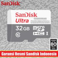 32GB SANDISK ULTRA 80MB/S MEMORY CARD MICROSD MICRO SD NO ADAPTER