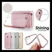 Aksesoris Handphone SHINING CHROME JELLY CASE TRANSPARAN VIVO Y21 Y22