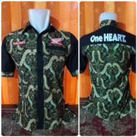 Kemeja Batik Honda One Heart / Kemeja Flanel / Baju Distro