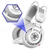 Plextone PC835 Gaming Headset LED dengan Mic - White