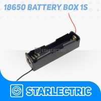 1x 18650 Battery Holder Baterai Case Box Kotak Batre Dengan Kabel