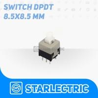 8.5mm self-locking latching Push button switch kotak 6 pin DPDT