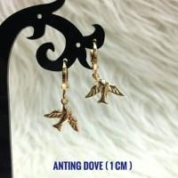 Anting Merpati Kecil Cantik - Lapis Emas - XUPING - Little Dove