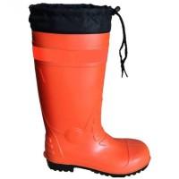 Promo Sepatu Safety Boot Rubber Orange (L/41-42) Krisbow Kw1000435