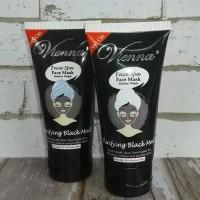 VIENNA FACE BLACK MASKER MUD 50ML- BLACK MASK VIENNA TUBE