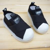 Sepatu anak/shoes/casual shoes/LED shoes/ cross-black