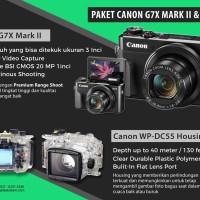 Paket Canon PowerShot G7X Mark II + Housing - New 2018!!