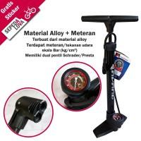 Pompa Sepeda Alloy Dengan Meteran Dual Pentil Avand PMA 7039