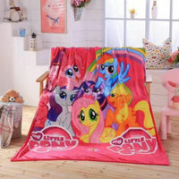 Selimut Little Pony bulu lembut Import pake Tas