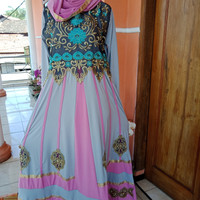 Baju gamis wanita muslim ala india / gaun abaya