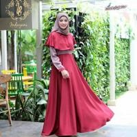 Busana baju dress syari gamis Muslimah Wanita Dewasa Terbaru BS036