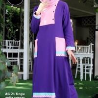 BARU Baju Muslim Online Alnita AG 21 Ungu ORIGINAL