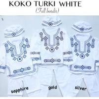 Setelan Baju Muslim Koko Anak Bayi Laki-Laki Koko Turkie White