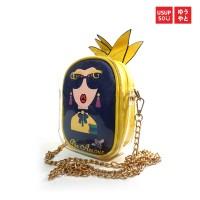 Usupso Woman Sling Bag Printed / Tas Selempang - Pineapple