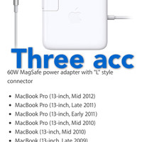 Adaptor Charger Apple MacBook Magsafe for Mac Pro 60wWhite ORIGINAL