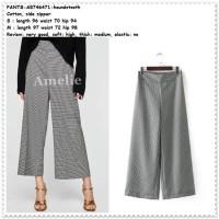 Celana Panjang Kulot Kerja Wanita Korea Import Pants AB746471 Hitam