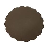 Alat Dapur Triplek tatakan kue tart plastik cokelat BULAT 18cm