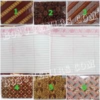 SET Buku Tamu undangan motif Batik ( ISI 2 BUKU) / Guest Book