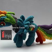Boneka rajut little pony Rainbow