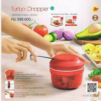 Turbo chopper tupperware,. Alat pencacah bumbu dapur