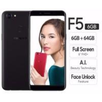 Oppo F5 Smartphone - Black [64GB/6GB] GARANSI RESMI OPPO 1 TAHUN