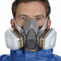 3M Half Facepiece Respirator Half Gas Mask Medium Masker Gas 3M 6200