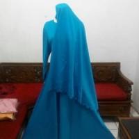 GROSIR BAJU Gamis Wolfis+Jilbab Syar'i Atem Non Ped Jipon