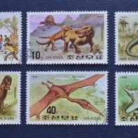 DPR KOREA  -  DINOSAURUS   stamp set