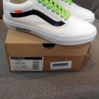 Sepatu Vans Oldskool Off White Custom White Wafle DT BNIB Premium Ori