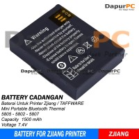 Baterai Printer Bluetooth Thermal Zjiang / Taffware 5805 / 5802 / 5807