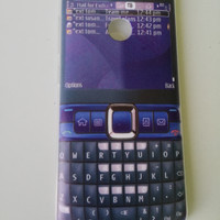 Softcase gambar hp nokia biru Asus Zenfone Max Plus M1