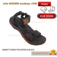 NO 43 BARNETT EVEREST MOUNTAIN 06 BLACK sandal gunung pria flat casual