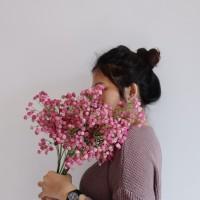 Bunga Plastik Baby Breath Besar - Fushia