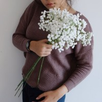 Bunga Plastik Baby Breath Besar - Putih