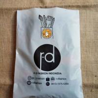 plastik packing online shop bahan HD 25X35 untuk pengiriman + SABLON - Putih
