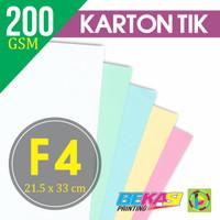 Kertas Karton TIK 200 Gram Ukuran F4 (215 x 330 mm)