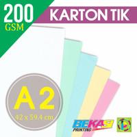 Kertas Karton TIK 200 Gram Ukuran A2 (420 x 594 mm)